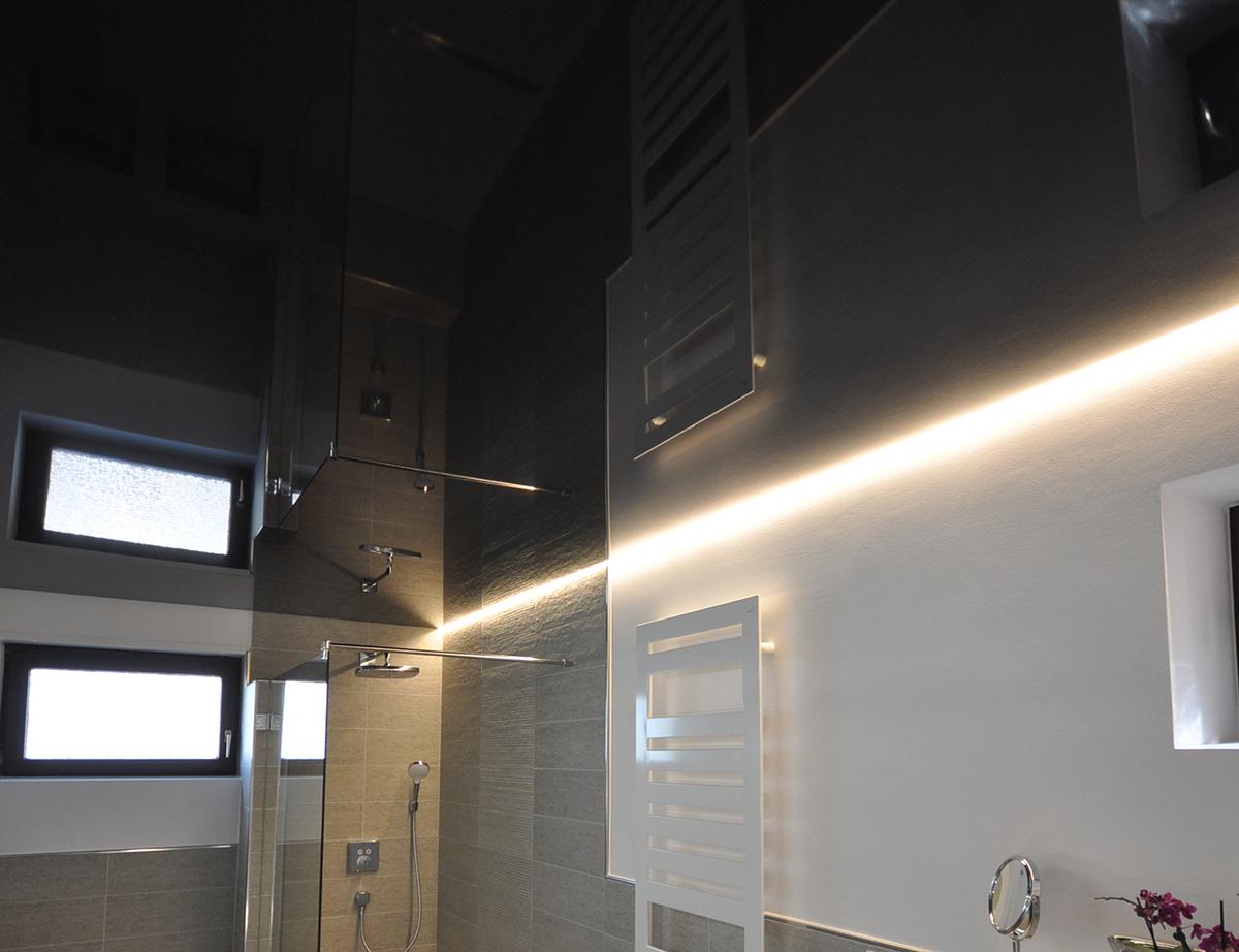 CILING Lichtkanal Bad mit Spanndecke