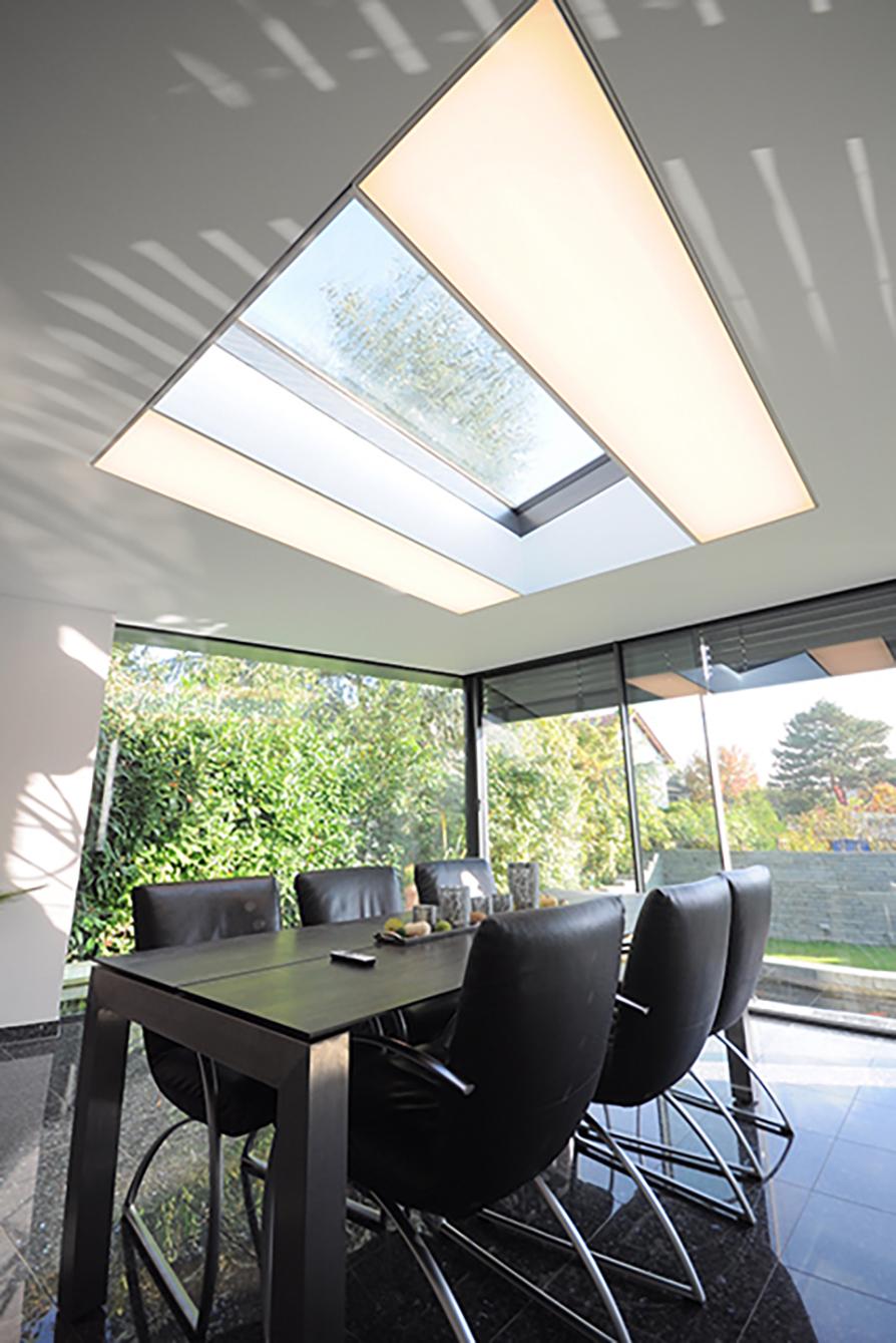 CILING Spanndecke Tisch Lichtmodul Einbau CILIGHT