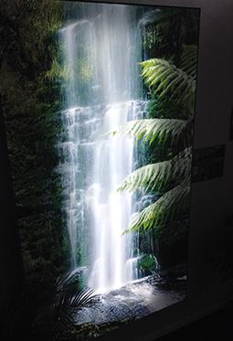 Wasserfall Ausstellung bedruckte Wand CILING_